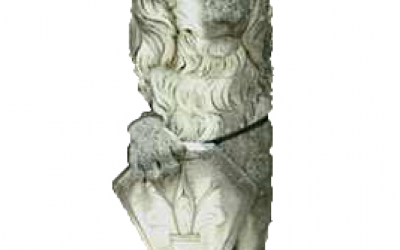 |Leone in scultura da giardino, Anpc01sx/dx