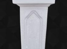 Pilastro cemento bianco TB12Liscio