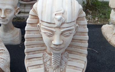 busto Sfinge cemento bianco, TBS011