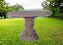tavolo in cemento bianco da giardino, TT01