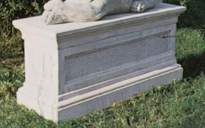 Base per leone sdraiato in cemento TA10Base