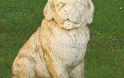 Cane da giardino in cemento bianco, TA14