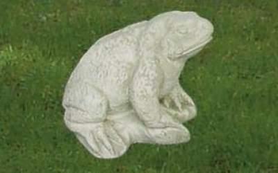 Rospo da giardino in cemento bianco, An51