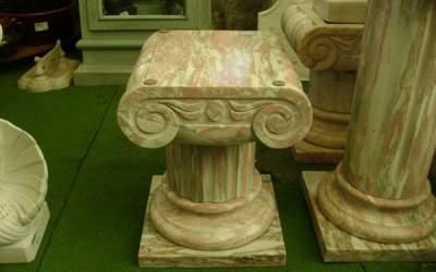 capitello in marmo scolpito a mano, TC02MF