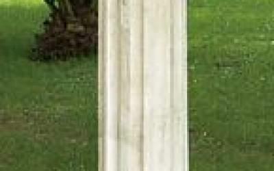 colonna cemento bianco da giardino TC01