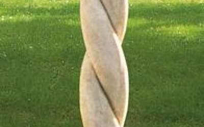colonna cemento bianco da giardino TC11
