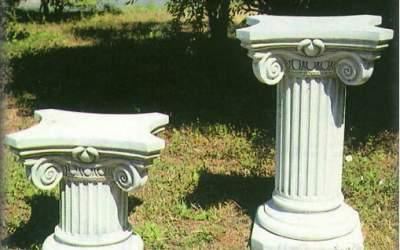 capitello in cemento da giardino, TC45P