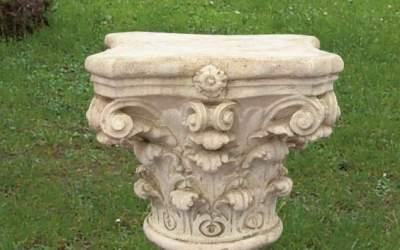 capitello in cemento da giardino, TC48