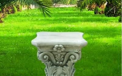 capitello in cemento da giardino, TC49B