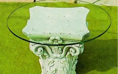 capitello in cemento da giardino, TC49