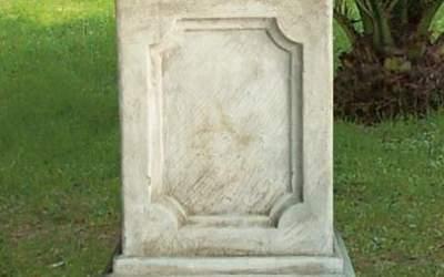 base quadrata in cemento da giardino, TC60