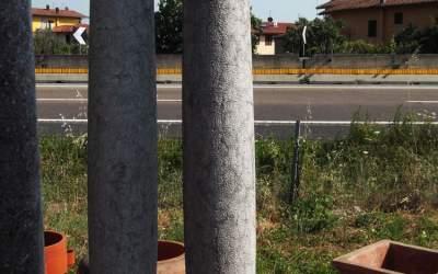 colonna scolpita da giardino in marmo, TC01MR