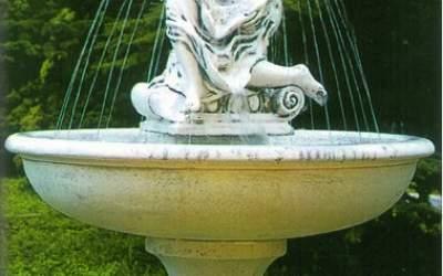 Fontana in cemento da giardino Marbella TF12+gran kit (La foto è puramente indicativa.)