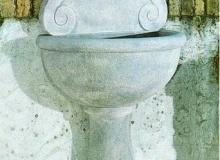 Fontana cemento bianco, Camogli Fn54