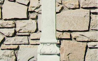 Fontana a colonnina, cemento bianco Cimone Fn58