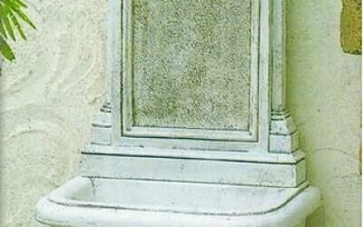 Fontana a muro, cemento bianco Cagliari Fn60