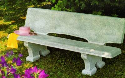 panchina in cemento bianco, Pn05