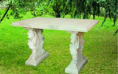 tavolo in cemento bianco da giardino, Pn13A