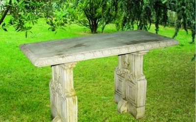 tavolo in cemento bianco, Pn14A