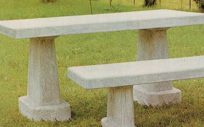 tavolo in cemento bianco da giardino, Pn15A