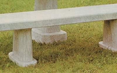 panchina in cemento bianco, Pn15B