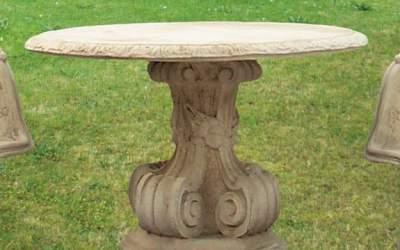tavolo in cemento bianco da giardino, Pn17B