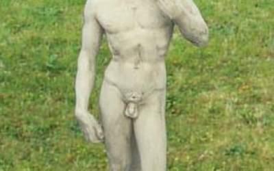 David di Michelangelo in cemento bianco, TSA02A