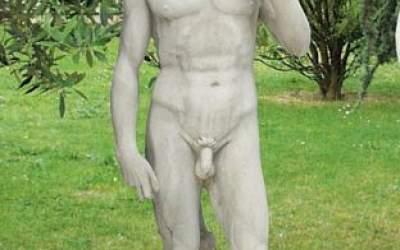 David di Michelangelo statua in cemento, TSA02D