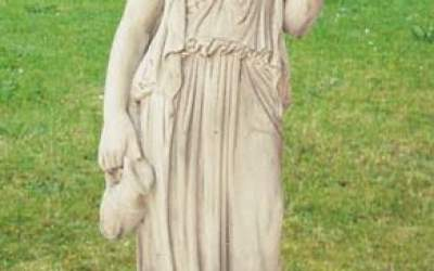 Ebe statua in cemento bianco, TSA04B
