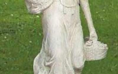 Statua in cemento bianco da giardino, St61