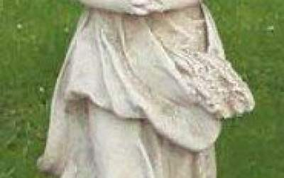 Statua campagnola cemento bianco, TSA62