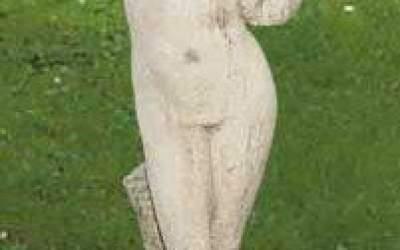 statue white cement, ST66