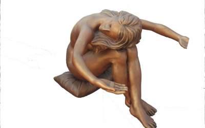Statua in marmo sintetico da giardino, ST01PL